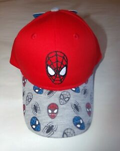 Marvel Spiderman Toddler Baseball Hat/Cap-Gray-Red-One Size