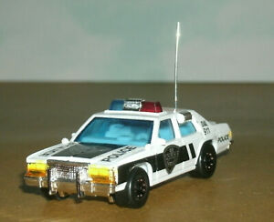 1/64 Scale 1980's Ford LTD P72 Diecast Police Car (with custom details) Matchbox