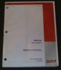 Custodia RB455A Rotondo Pressafieno Servizio Shop Riparazione Officina Manuale