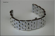 24mm SOLID Heavy Polished Mirror butterfly Stainless Steel Bracelet Men + Pins