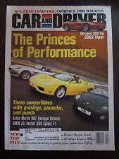 Car & Driver Magazine April 2001 Princes Performance Viper DB7 Volante Z8 NN YY