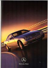 Mercedes-Benz CL Coupe 1999 UK Market Sales Brochure 500 600