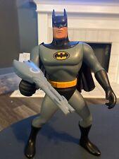"BATMAN THE ANIMATED SERIES ULTIMATE BATMAN 15"" FIGURE LIGHT-UP EYES AND EMBLEM"