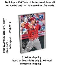 #119 Tom Seaver Mets HOF 5x7 Silver (#/49 made) 2019 Topps 150 Years of Greatest