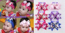 "Free Shipping 6pcs girl baby Christmas Gifts party 4"" Hair Bows  252-11-16-P"