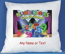 NUMBERJACKS PERSONALISED LUXURY SOFT SATIN POLYESTER CUSHION COVER BIRTHDAY