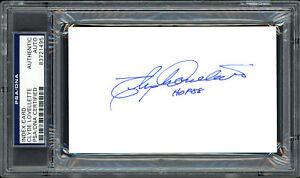 "Clyde Lovellette Autographed 3x5 Index Card Celtics ""HOF 88"" PSA/DNA #83721495"