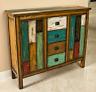 Christopher Knight Home 295685 Everest 4 Drawer 2 Door Cabinet, Multicolor #9220