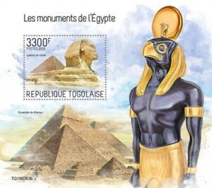 Togo - 2019 Monuments of Egypt - Stamp Souvenir Sheet - TG190363b