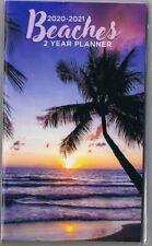 BEACHES   2020-2021 - 2 YEAR POCKET CALENDAR PLANNER AGENDA APPOINTMENT BOOK