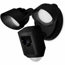 Ring Floodlight Cam with Built-in Floodlights and Siren Alarm - Black