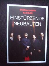 1 EINSTÜRZENDE NEUBAUTEN Concert Tour Flyer 2018 rare rar Blixa Bargeld