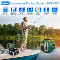 "Eyoyo 360° Underwater Fishing Camera 9"" 30M 8GB Fish Finder 1000TVL Waterproof"