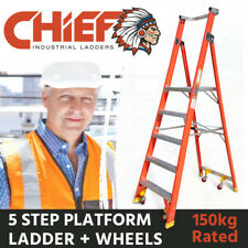 CHIEF 5 Step Fibreglass Platform Ladder