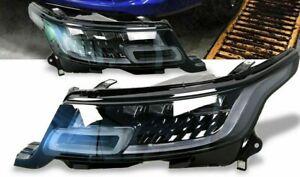 Range Rover Sport L494 2014-17 LED LHD European Spec Clear Headlamps Retrofit