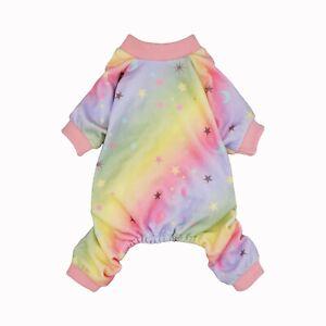 Fitwarm Fairy Rainbow Dog Pajamas Princess Pet Clothes Jumpsuit Cat Shirt Girl