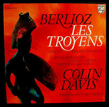 BERLIOZ: Les Troyens-COLIN DAVIS-Royal Opera House Vickers-PHILIPS-5 LP Box Set