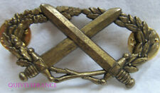 IN13378 - Brevet Militaire Professionnel, bronze, attache type PIN'S, dos grenu