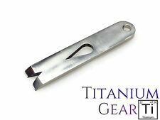 "Titanium 3"" Widgy Pry Bar Ti Multi Tool Key Ring EDC Gear Keychain USA SELLER"