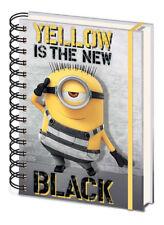 A5 Notizbuch DESPICABLE ME 3 - Yellow Is The New Black  Gummiband NEU SR72324