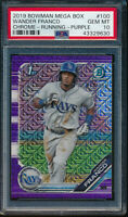 PSA 10 WANDER FRANCO 2019 Bowman Chrome Mega Box PURPLE Mojo Refractor GEM MINT