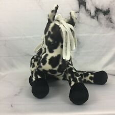 Spotted Floppy Black And White Horse Plush Douglas Cuddle Toys