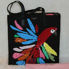 Kate Spade Rio Parrot Kitt Embellished XL North South Tote Bag Shoulder Purse