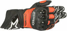 Alpinestars GP PRO R3 Leather Road Racing Gloves (Black/Fluo Red) S (Small)