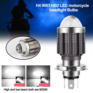 2X H4 9003 HB2 6000K White CSP LED Motorcycle Headlight Bulb Kit High Low Beam