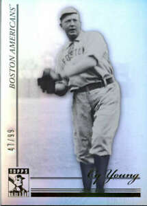 2010 Tribute Black and White #44 Cy Young SER #/99 Boston Red Sox  BX T1L