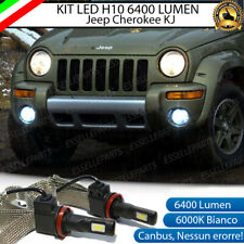 KIT FULL LED JEEP CHEROKEE KJ H10 FENDINEBBIA CANBUS 6400LM 6000K NO ERRORE