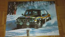 Prospekt / Poster: SAAB 96, 99, 900, Turbo / Stig Blomqvist Saab Turbo Rallye