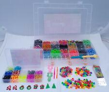 ca 5500 Loom Bands Bänder Starter Set +600 Box EXTRA +200 Perlen Gummibänder