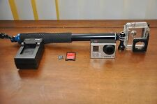 GoPro Hero 3+ Silver Edition Camcorder CHDHN-302 8gb Card with SP Gadgets Pole