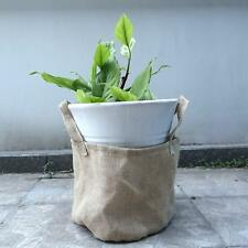 Natural Burlap Flower Pot Bag Flower Protection,Garden Bag with Handles