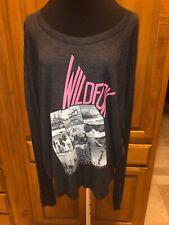 "Women's WILDFOX NWT Gray  ""Los Angeles,CA ..."" Long  Sleeve Top SZ L $89.00"