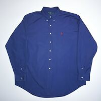 Ralph Lauren Men's Blue Long Sleeve Cotton Shirt Size 2XL Mint Condition