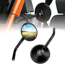 1Pair Side View Mirror With Adjustable Arms Fits For Jeep Wrangler JK 2007-2017
