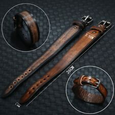 Mens Boys Leather Bracelet Adjustable Handmade Bangle Braided Surfer Wristband