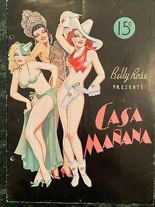 Billy Rose's CASA MANANA Paul Whiteman, Sallly Rand, JOE VENUTI  1936 PROGRAM