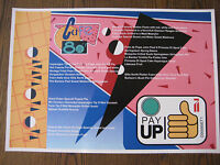 """Back to the Future - Cafe 80s 11"""" x 15 -3/4"""" Menu Place Mat Poster Print - B2G1F"""