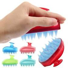 Silicone Scalp Shampoo Massage Brush Washing Massager Shower Head Hair Comb ~