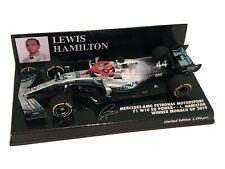 1/43 Minichamps Lewis Hamilton Mercedes F1 W10 Monaco Grand Prix 2019 Winner