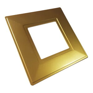 Gold Single Light Switch Socket Finger Plates Surround Wall Protector Cover