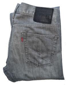 "Men's LEVIS STRAUSS & CO Premium 514 GREY Straight Leg Jeans W34"" L32"" *VGC*"