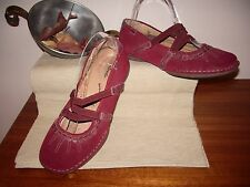 """Women's shoes """"Colorado"""" size 6.5, leather upp/sock, ch. red , part suede, lovel"""