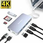 USB C Hub 4K HDMI 9 in 1 Multiport Adapter Portable Docking Station. Macbook ETC