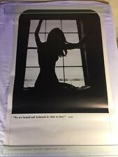 Vintage NOS 1970 Original Celestial Arts Poster Nude Woman In Window Mike Powers