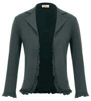 GRACE KARIN Women Office Casual Cropped Blazer Jacket Open, Black, Size XX-Large