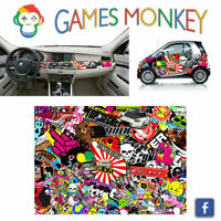 Pellicola Car Wrapping Adesiva 70x50 cm - STICKER BOMB 05 - Vinile PVC Lucido HD